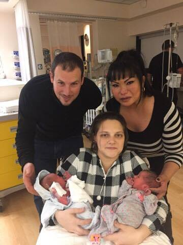 After the twins were born, with Surrogate Irene and their New Parents!